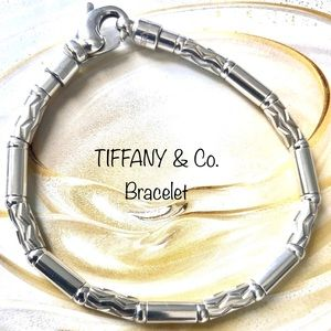 TIFFANY &Co. BRACELET STERLING - RARE ZIG ZAG